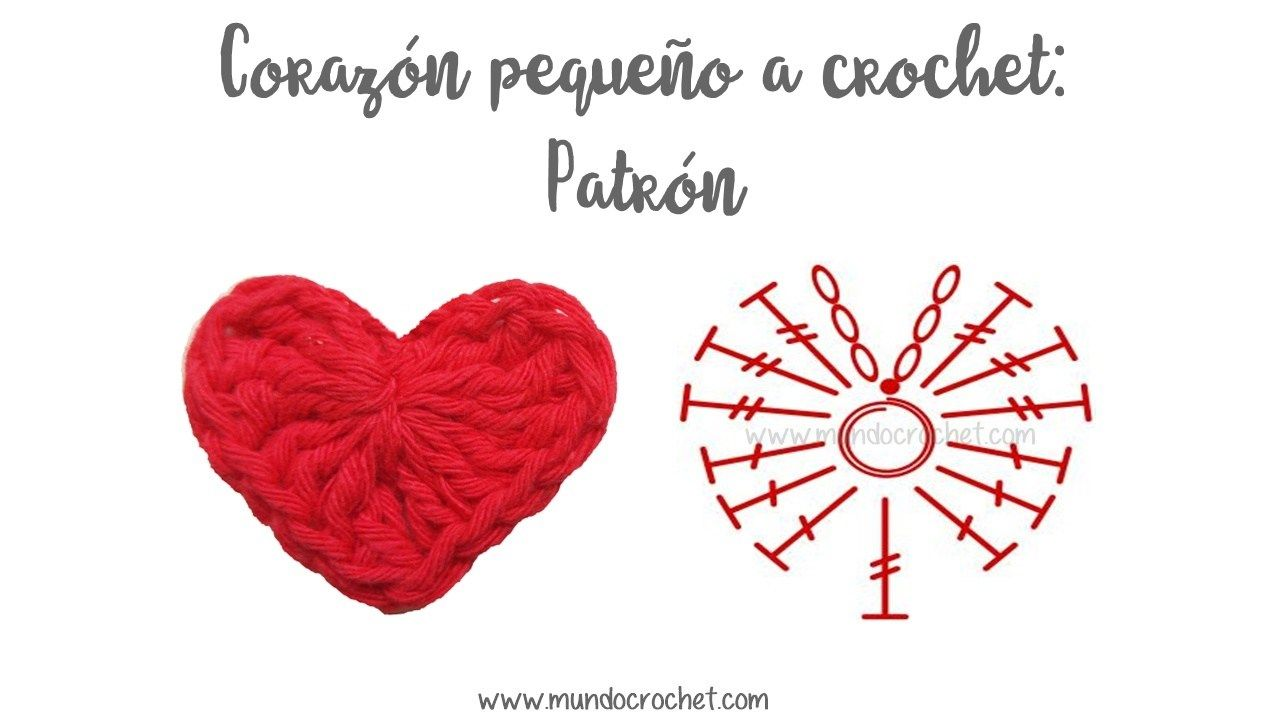 Corazon pequeño a crochet o ganchillo23 | Crochet | Pinterest ...