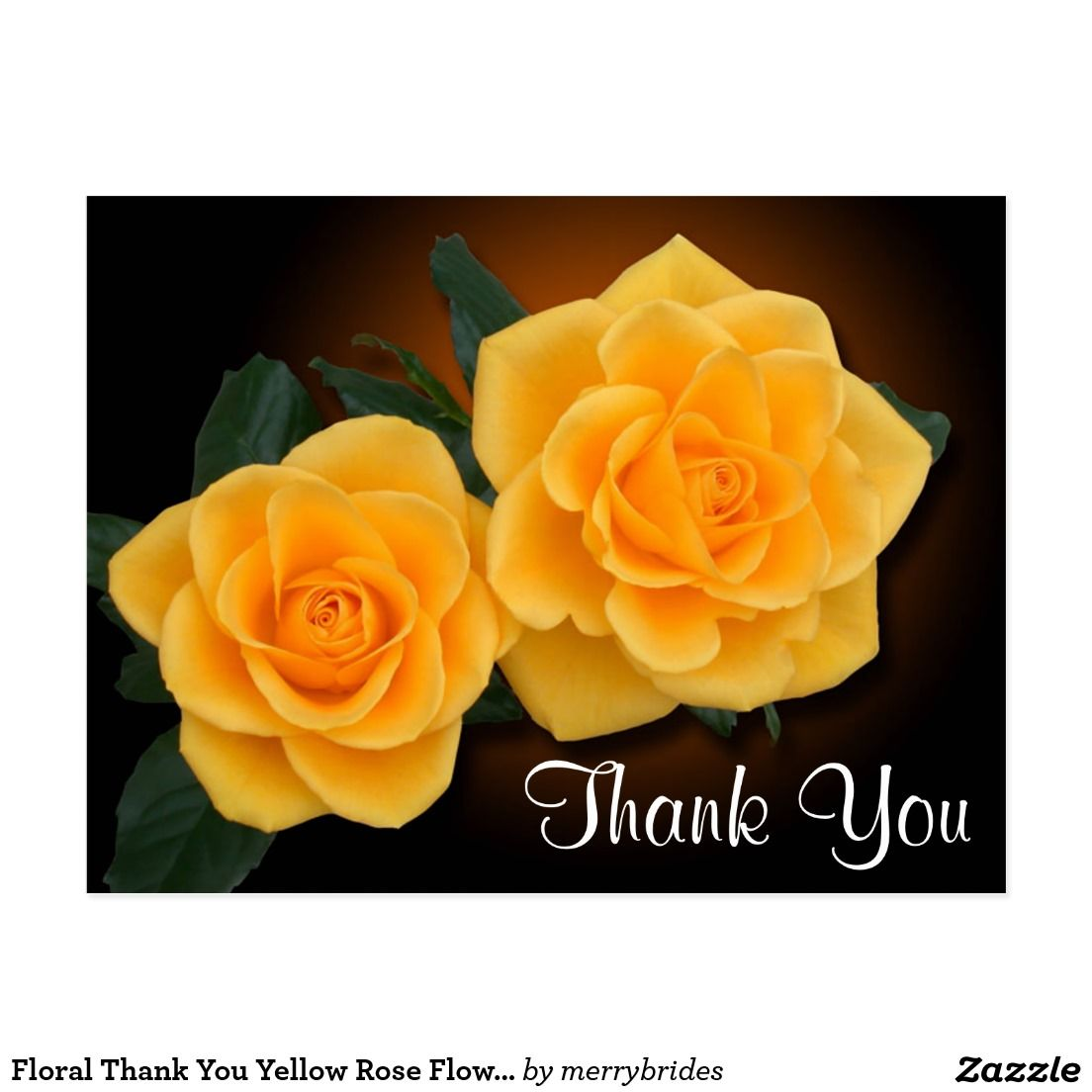 Floral Thank You Yellow Rose Flowers Postcard Zazzle Com In 2021 Beautiful Flowers Images Yellow Roses Flower Images