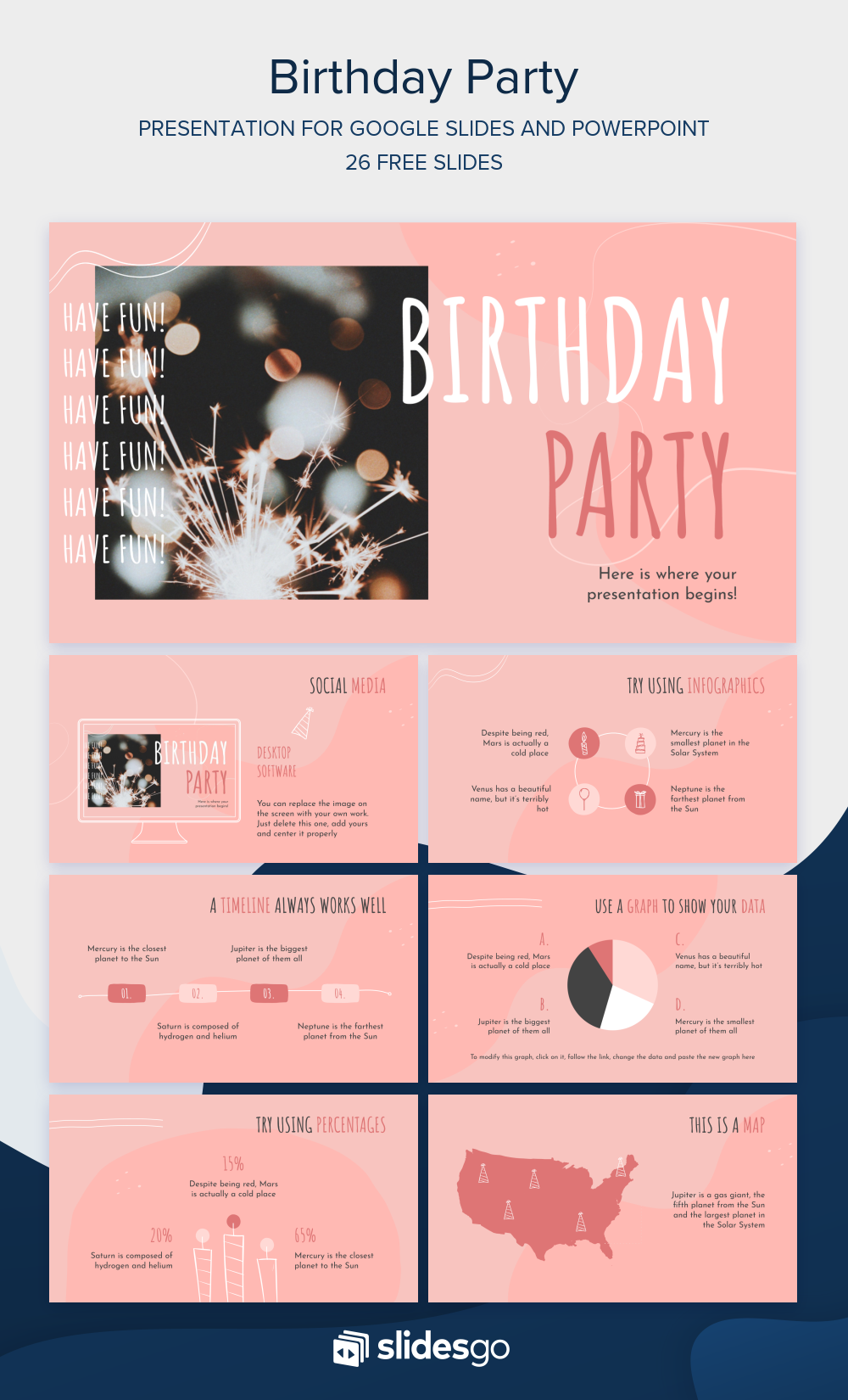 Organize A Great Birthday Party With This Creative Presentation Download It As A Google Slides T Powerpoint Free Powerpoint Presentations Google Slides Themes