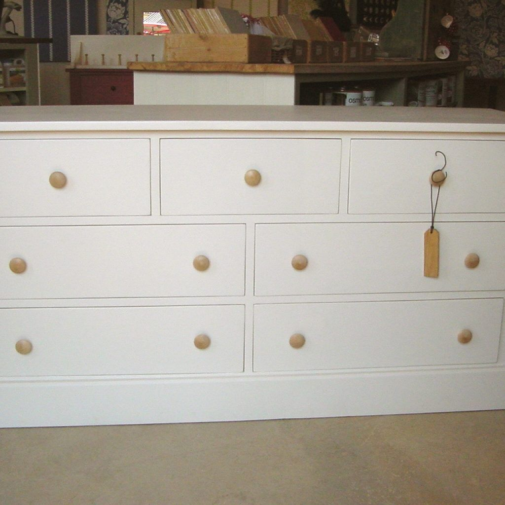 Low Wide Chest Of Drawers White