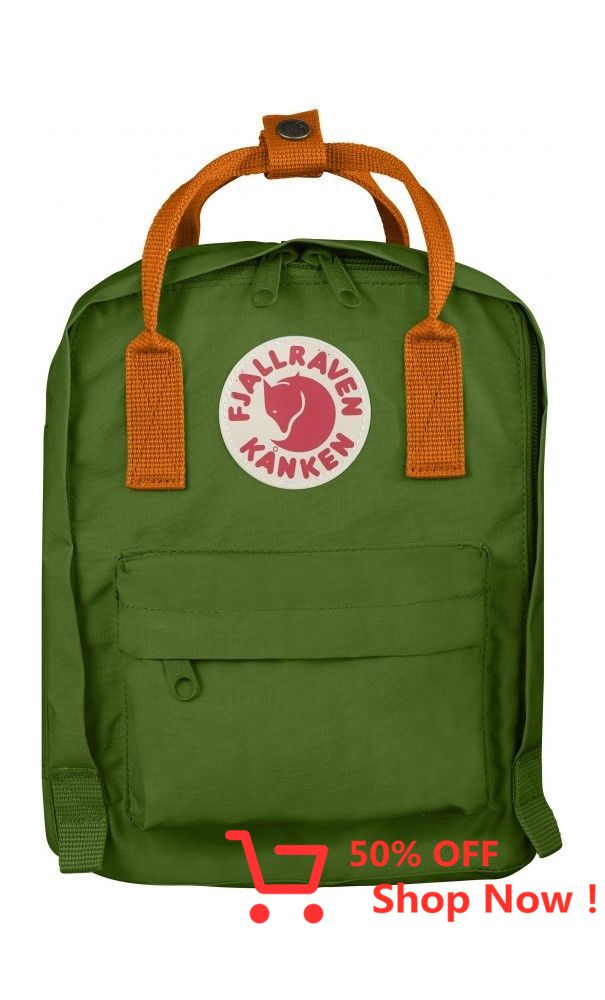 Fjällräven Kånken Mini ryggsäck Leaf Green Burnt Orange
