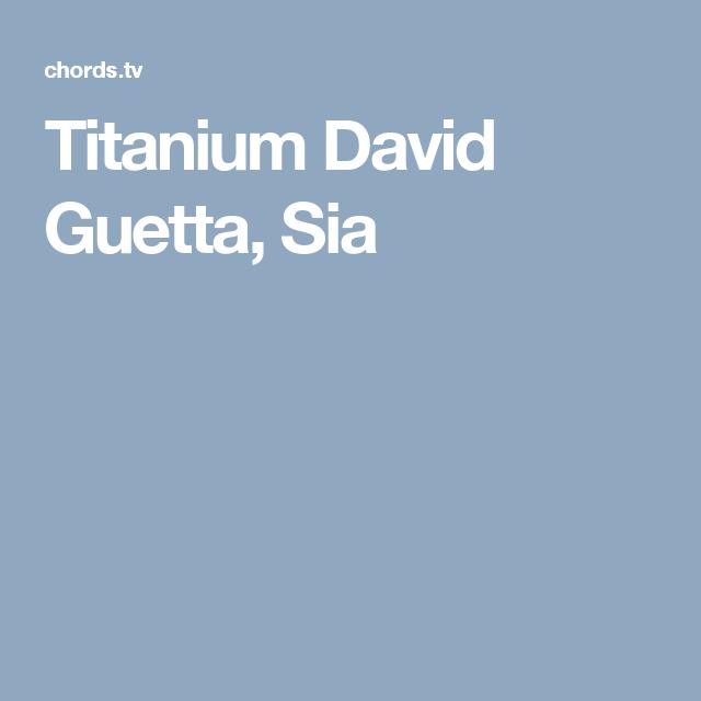 Titanium David Guetta Sia Music Pinterest David Guetta David
