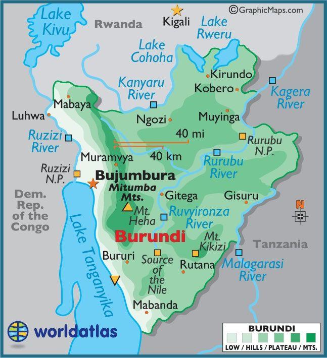 where is burundi on a map of africa Burundi Burundi Africa Travel African Great Lakes where is burundi on a map of africa