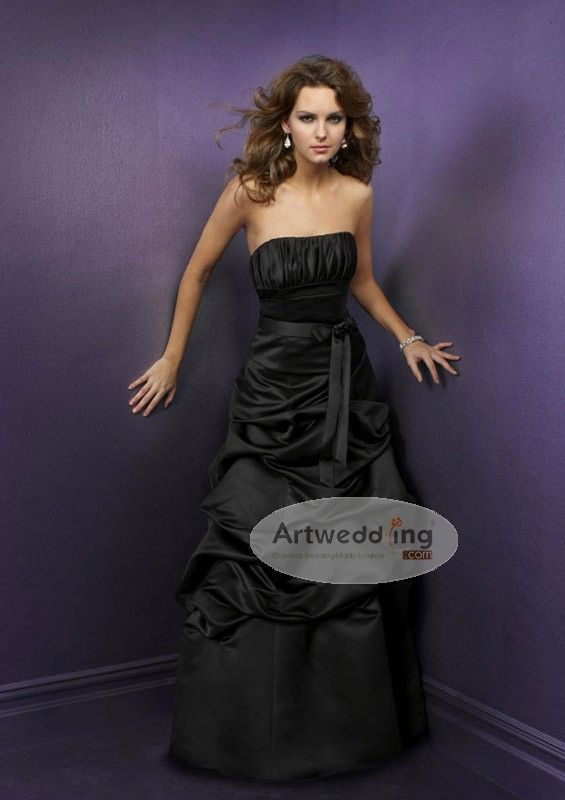 Satin Ball Gown with Sash and Pleated Bodice 129.99