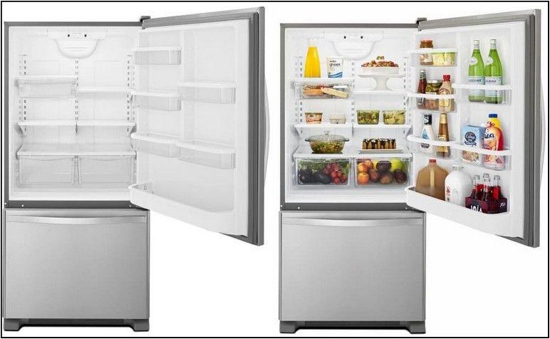 Whirlpool Counter Depth Refrigerator 33 Wide Design Innovation Refrigerator Bottom Freezer Glass Shelves