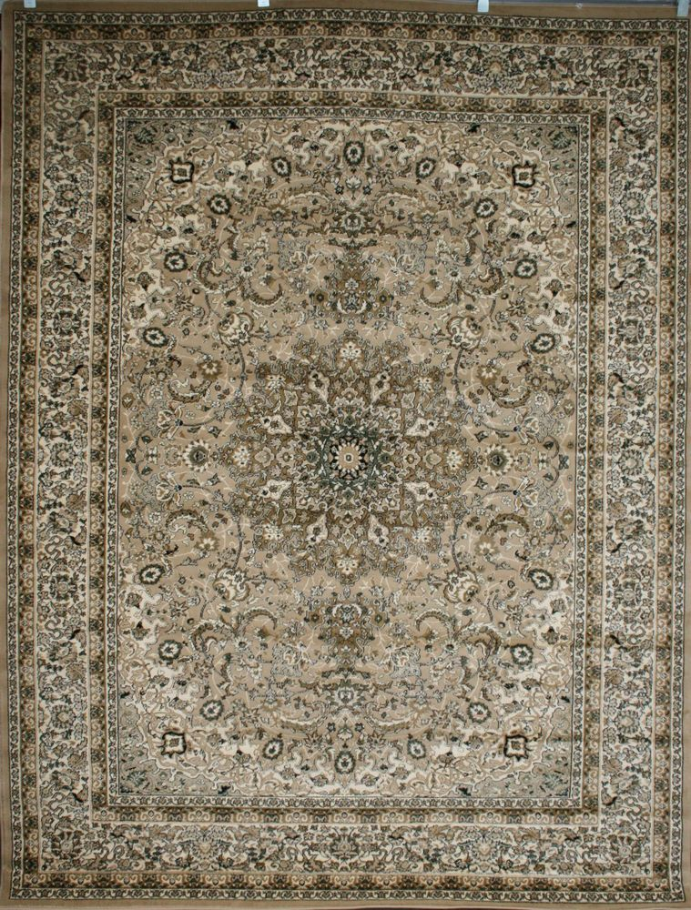 Huge Giant New 5 2 X 7 4 6x8 Area Rug Isfahan Cream Beige Wool Blend