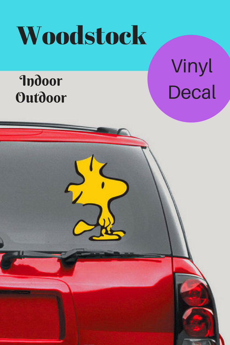 Snoopy Woodstock Vinyl Decal Sticker