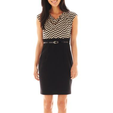 Alyx® Cap-Sleeve Two-Tone Dress - Petite  found at @JCPenney