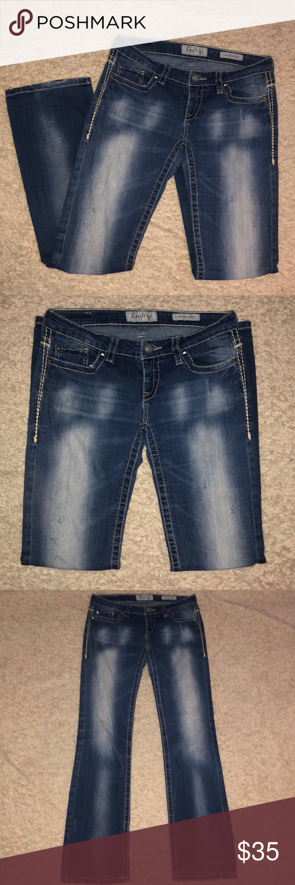 5856702d377 DayTrip Jeans Leo Bootcut Distressed Sz 29 Buckle DayTrip Jeans Leo Bootcut  Distressed Size 29 x 32 Rise 7 1/2 Inseam 32 Smoke free home if you have  any ...