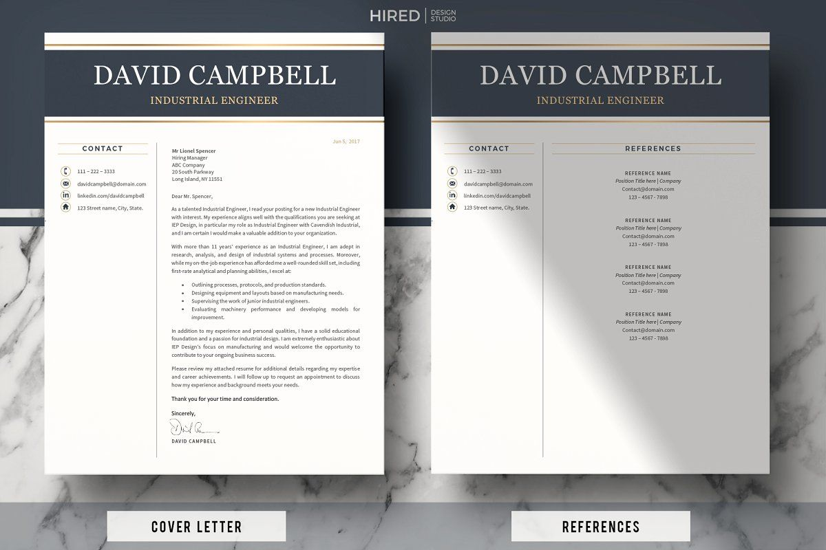 Ad Resume For Engineer Engineering Cv By Hired Design Studio On