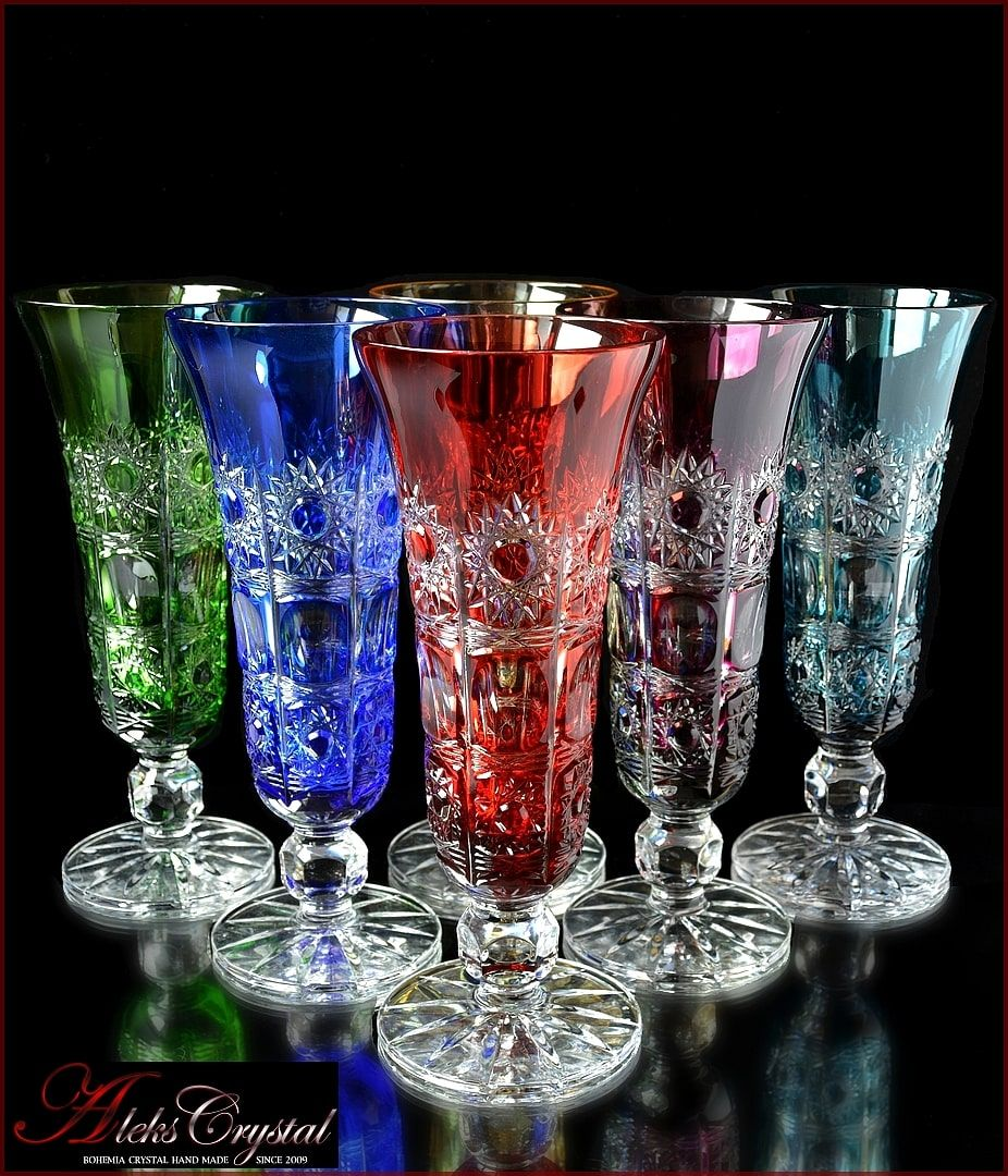 Aleks Crystal Com Bohemia Crystal Champagne Glasses In 2020 Glass Crystal Glassware Glass Artwork