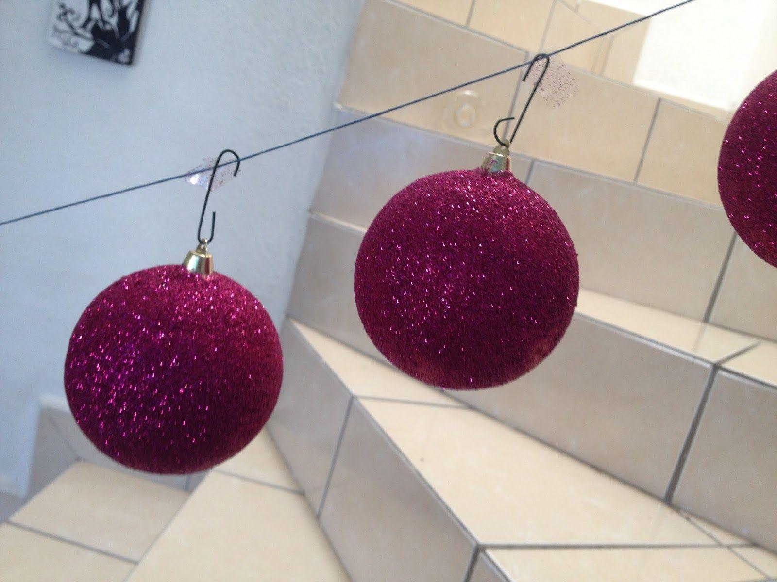 Como Hacer Esferas De Unicel Con Diamantina Navidad Adornos De