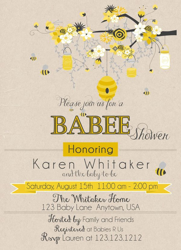 Mom to bee baby shower invitations bees shower invitations and look at this mom to bee baby shower eco friendly affordable and elegant invitations filmwisefo Gallery