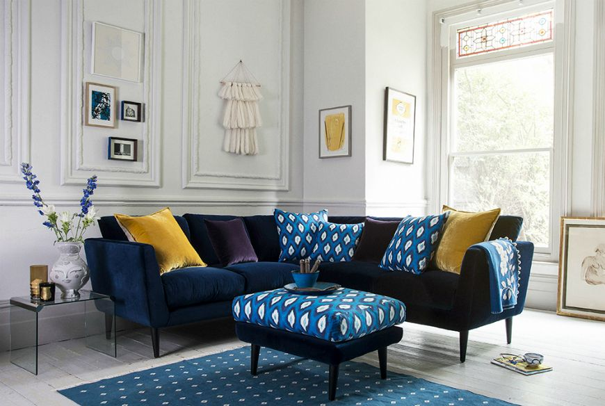 10 Corner Sofa Ideas For A Stylish Small Living Room Blue Sofa Living Blue Sofas Living Room Living Room Sofa