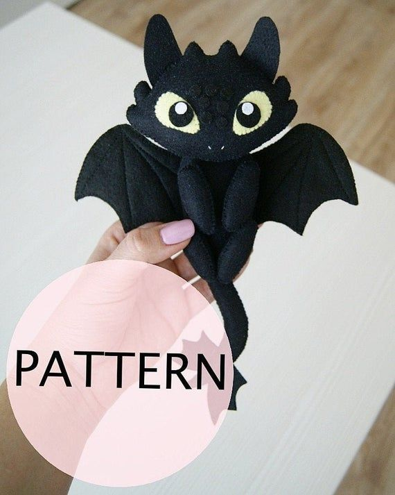 Toothless Toy PDF Pattern | Etsy in 2020 | Toothless toy ...