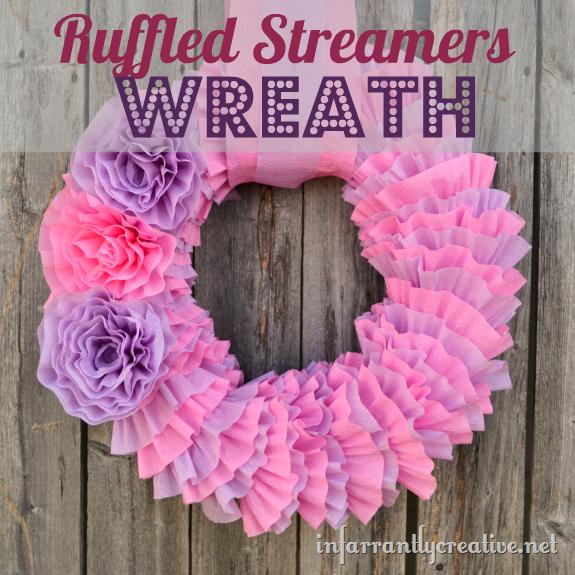DIY Tissue Paper Wreath