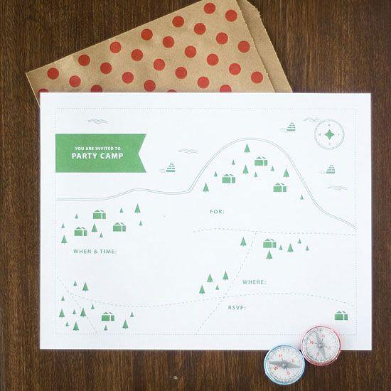 Imprimible para fiesta campestre o en un camping   free printable