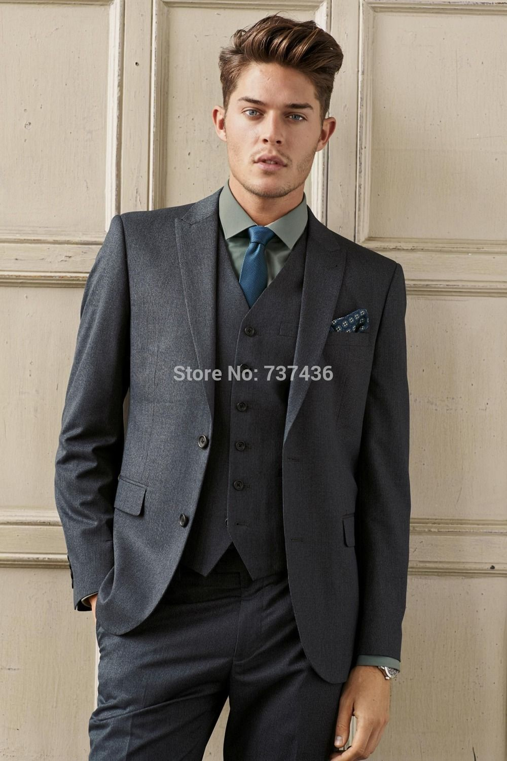 Dark Gray Suits Wedding Suits dark grey wool | CHESTI DE PURTAT ...