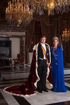 Koning Willem Alexander en koningin Maximá