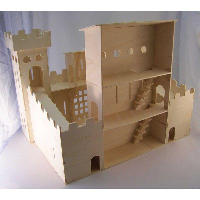 ch teau fort jouet bois fabriquer peindre et d corer castles pinterest chateau. Black Bedroom Furniture Sets. Home Design Ideas