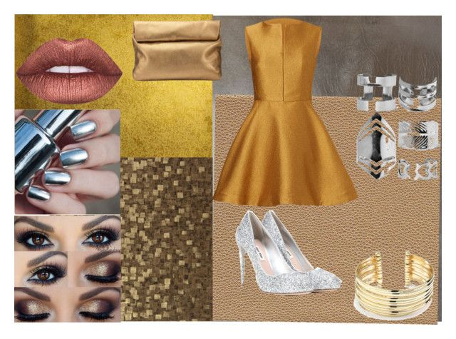 """""""be gold, copper, bronze, and silver"""" by skulls-are-bruised ❤ liked on Polyvore featuring Burke Decor, Misha, Josie Natori, Boohoo, Miu Miu, Zoffany, Jigsaw, Lime Crime and Belk Silverworks"""