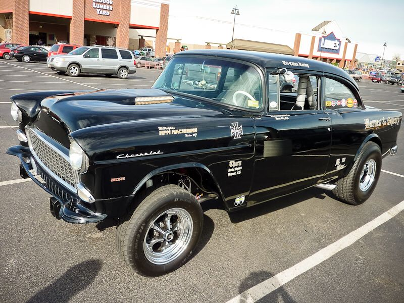 55' Bel Air gasser Old school muscle cars, 1955 chevy, Chevy