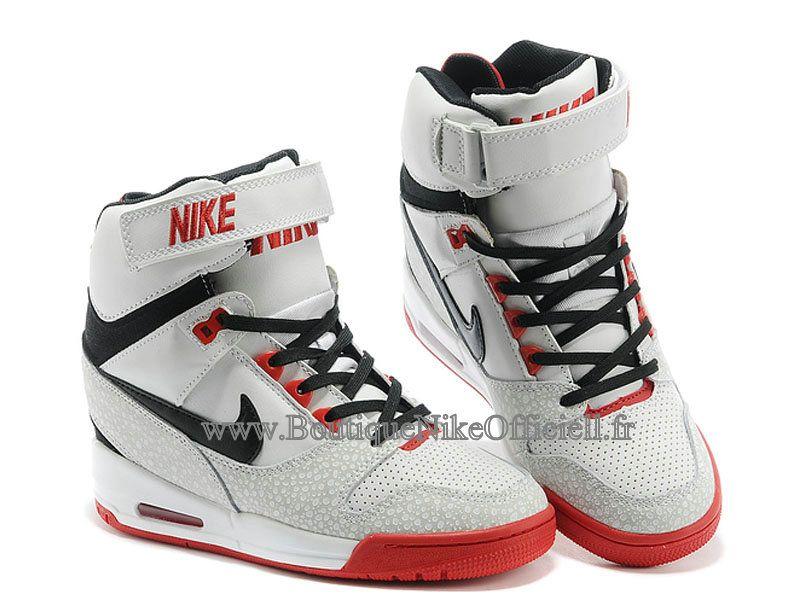 detailed look e4130 49ebb ... Boutique Nike Officiel Nike Air Revolution Sky Hi GS Chaussures  Montante Pour Femme Blanc Noir Rouge ...