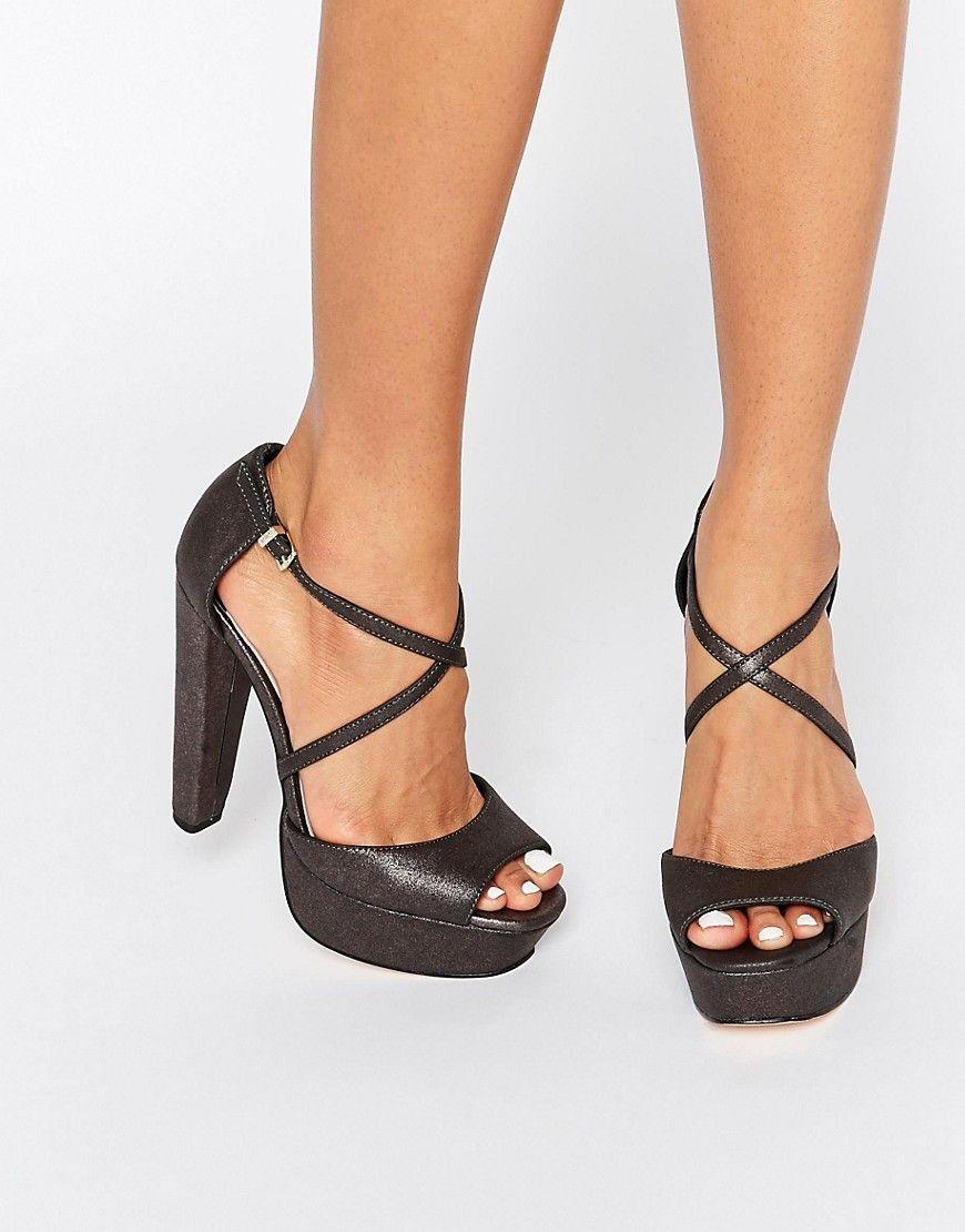 a76c45c7714b Faith+Daniella+Cross+Strap+Platform+Heeled+Sandals