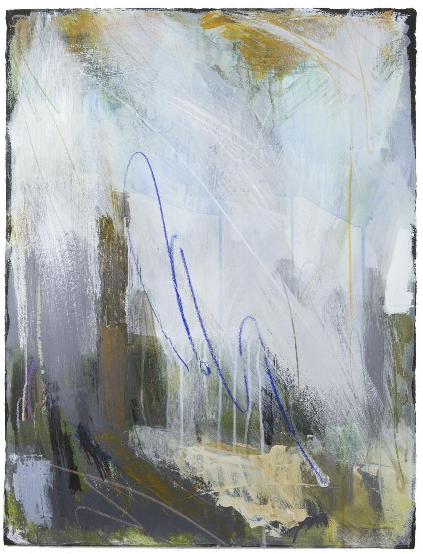 "Ellen Levine Dodd - ""Cove Fog 1"" - 22"" x 30"" - acrylic mixed media on cotton rag paper - available at Anne Neilson Fine Art"