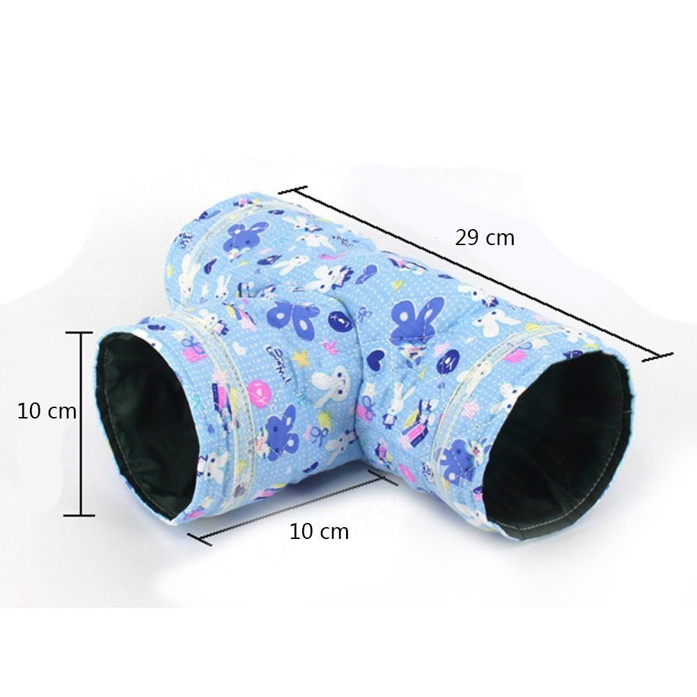 Dora Bridal 3 Way Hamster Tunnel Collapsible Pet Toy Tunnel Bed
