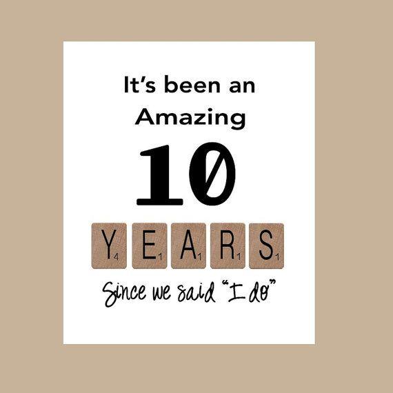 10th Wedding Anniversary Card Tenth Wedding Anniversary Card Etsy 10th Wedding Anniversary Anniversary Cards For Husband Wedding Anniversary Cards