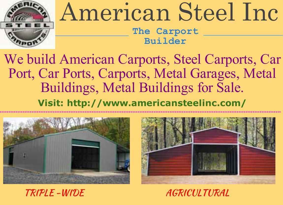 Http Www Americansteelinc Com Builds American Carports Steel Carports Car Port Car Ports Carports Metal Garages Steel Carports Carport Metal Carports