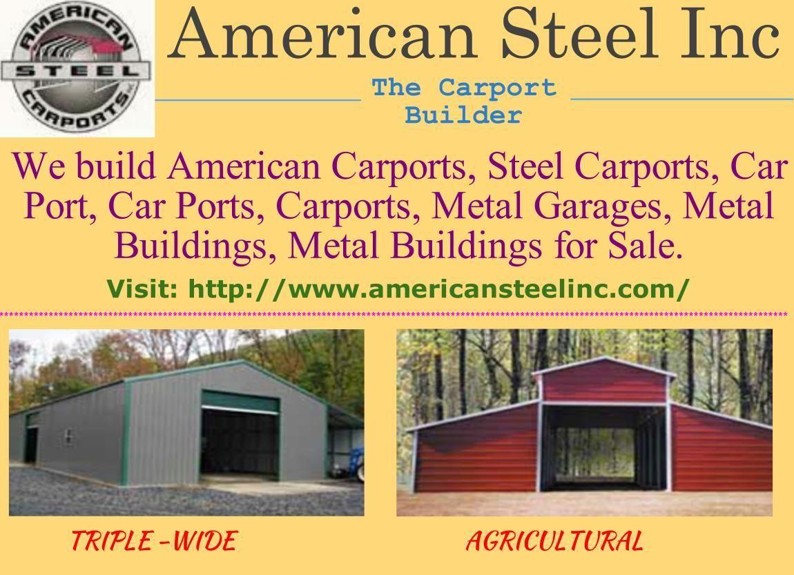Http Www Americansteelinc Com Builds American Carports Steel