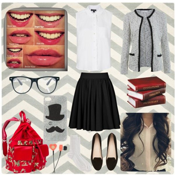 School Girl by annembustria on Polyvore