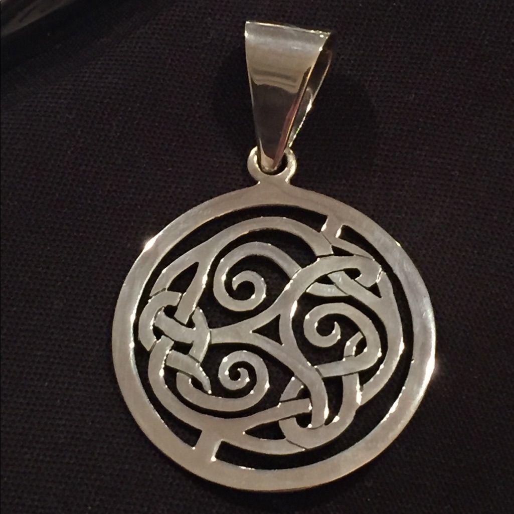 Retired Silpada Sterling Silver Celtic Pendant