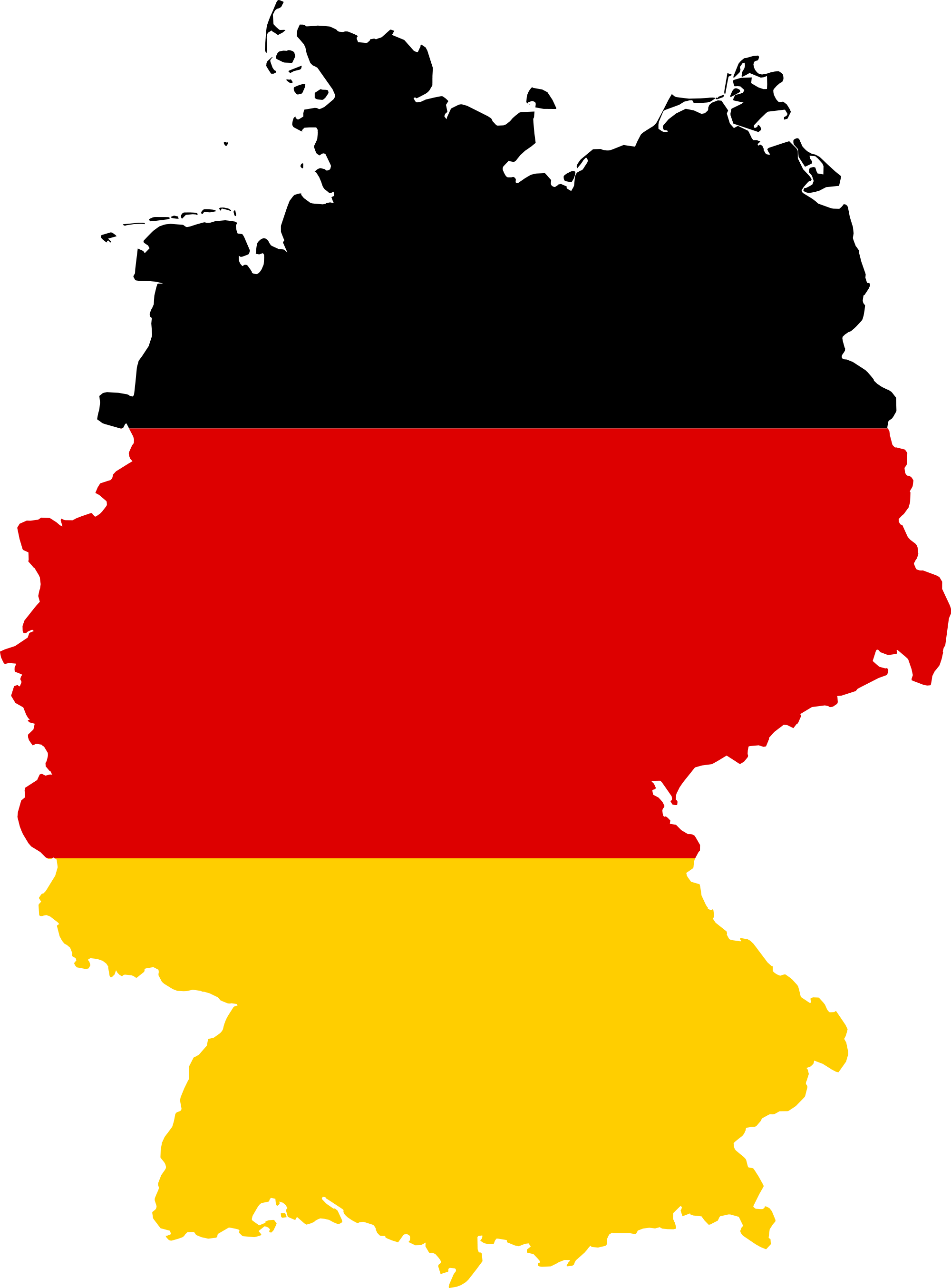 Image result for germany outline map flag