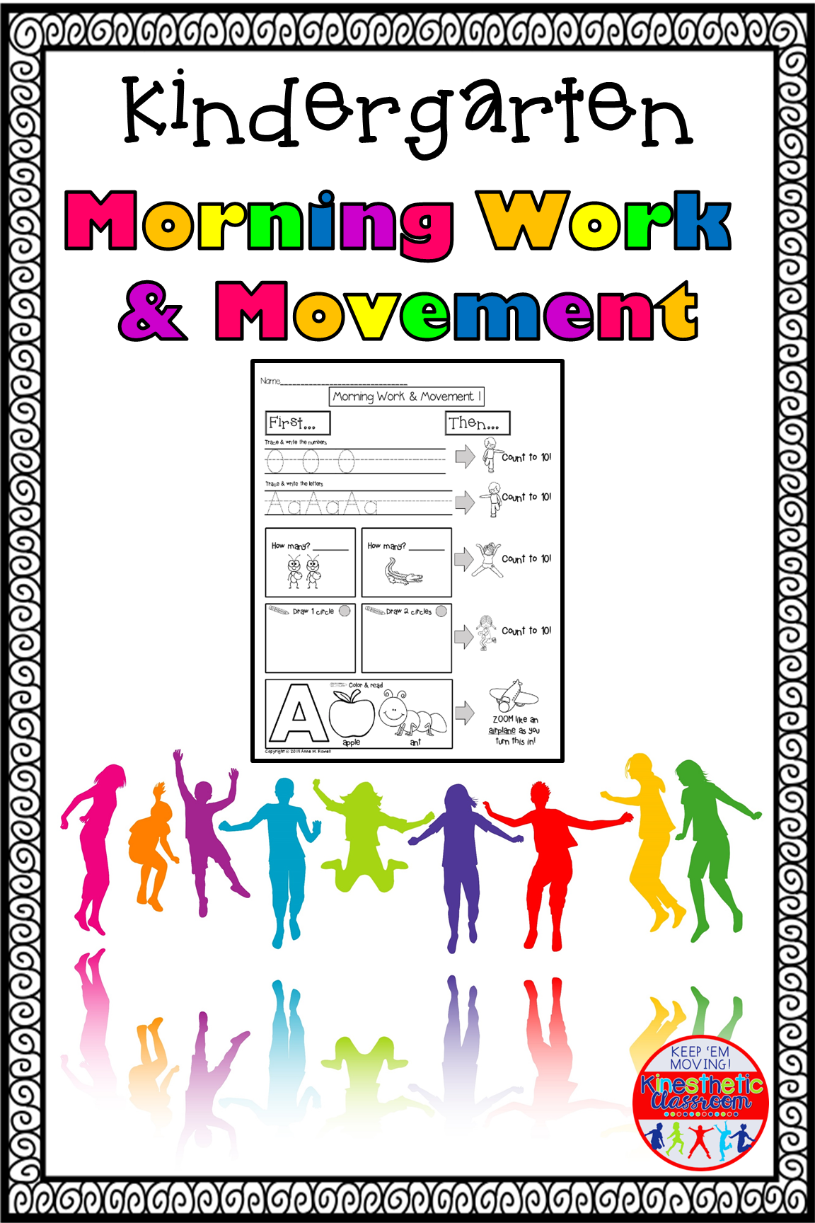 Kindergarten Morning Work And Movement Spiral Review Or