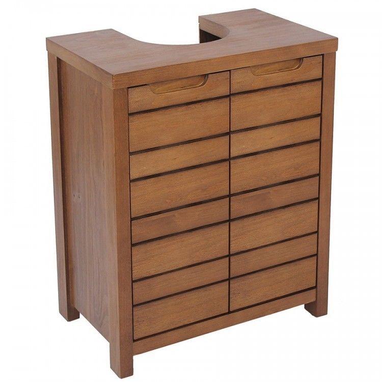 Bathroom Under Sink Cabinet With Shelf Solid Pine Wood Basin Storage Cupboard Uk Cupboard Storage Diy Cupboards Bathroom Under Sink Cabinet