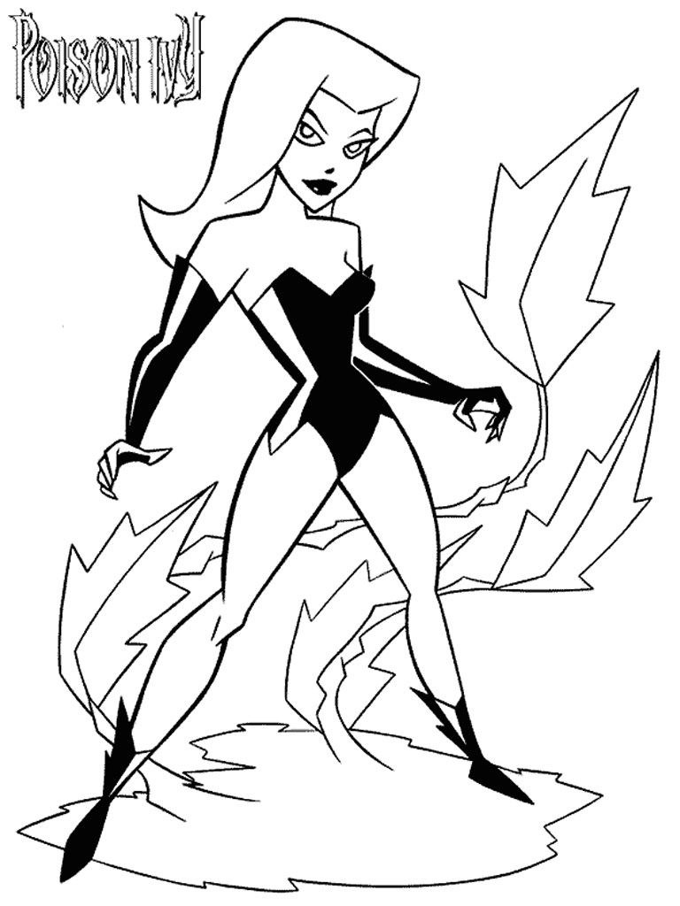 Poison Ivy Batman Coloring Pages