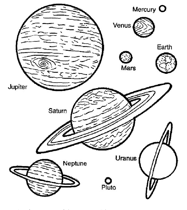 Space Travel Planets Coloring Pages : Best Place to Color