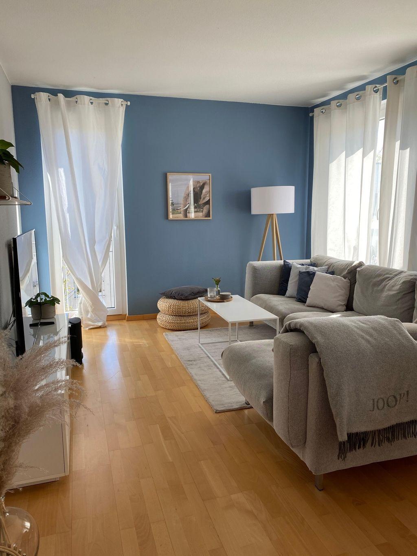 Wohnzimmer Blaue Wohnzimmerwände Bei Saskias Hyggelife Living Room Inspiration Home Decor Home