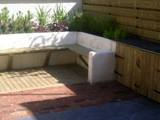 Garden Ideas Decking And Paving timber decking, brick paving, slate paving, rendered wall with