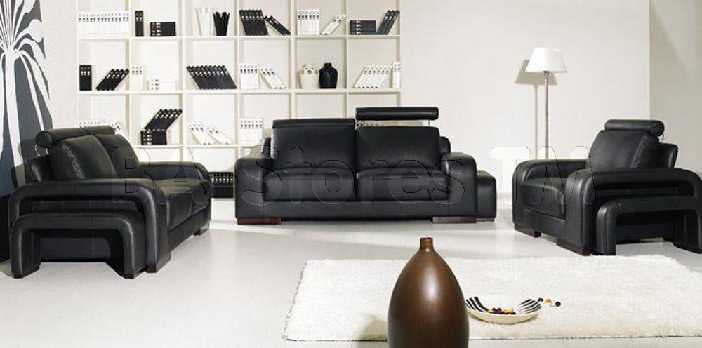 Furniture design for sofa set black leather sofa set Living room decorating ideas with black leather furniture