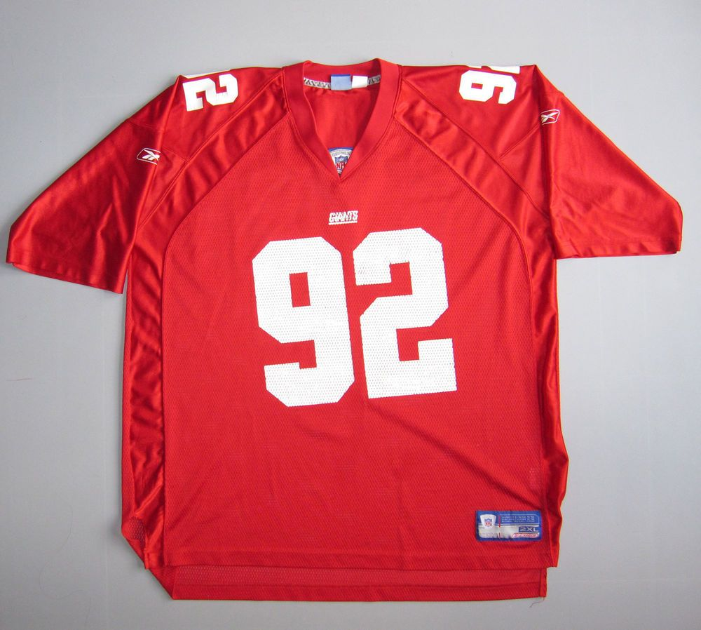 timeless design dd3a8 bd891 Vtg Mens Reebok New York Giants Michael Strahan Jersey Size ...