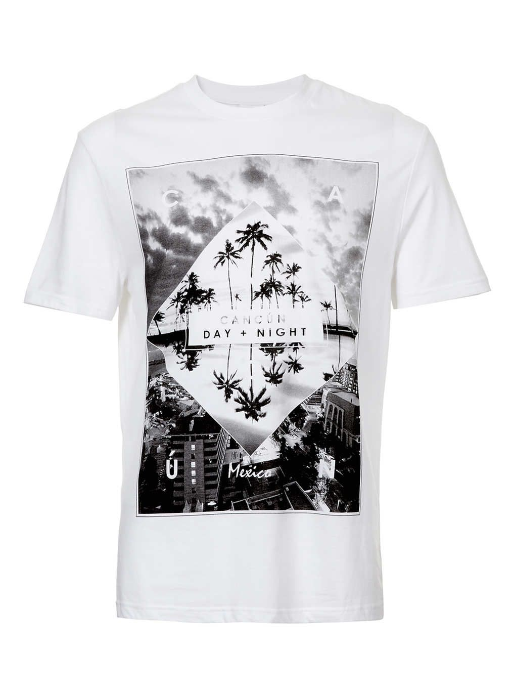 White Cancun Print T-Shirt - Men's T-shirts & Tanks - Clothing ...