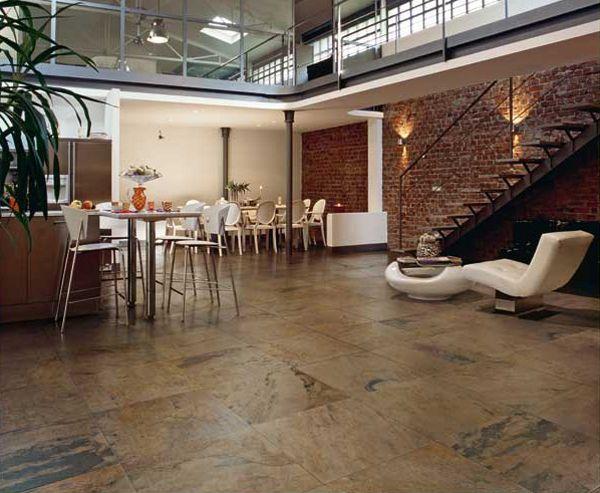 Decora o 30 salas com porcelanato e piso cer mico for Pisos ceramicos rusticos para interiores