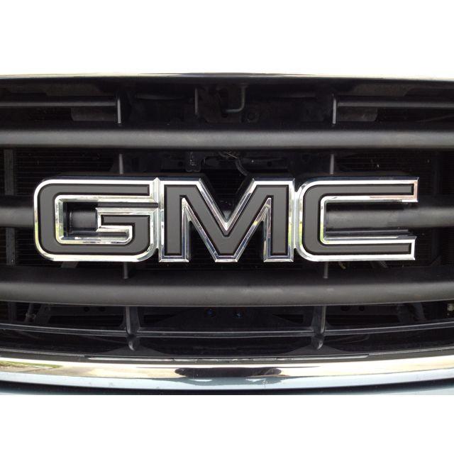 My Blacked Out Gmc Emblem New Trucks Gmc Truck Yeah