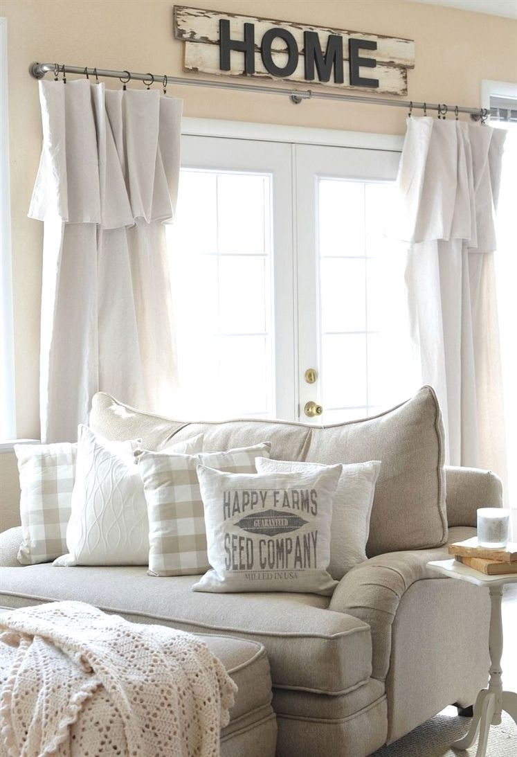Nice 30 Lovely Farmhouse Living Room Curtains Ideas More At