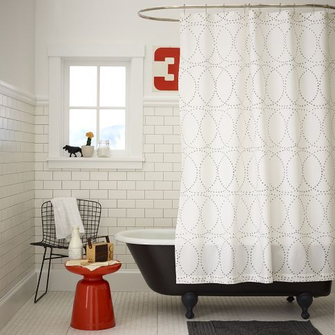 Nile Shower Curtain West Elm Modern Shower Curtains White
