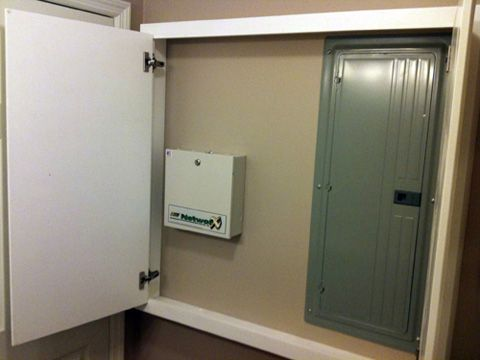 How to Hide an Electrical Utility Panel @ jammer(six ... Hide Electrical Panel on